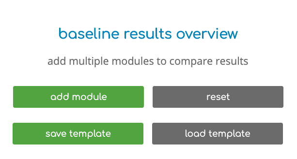 baseline results overview - add multiple modules to compare results